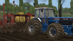 Ford TW 35 MK II Planting potatoes